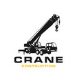 silhouette transport crane logo vector image vector image