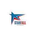 star fall development icon vector image vector image