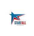 star fall development icon vector image