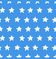 stars on blue background seamless pattern hand vector image