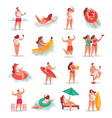 summer party people set vector image vector image