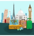 travel around world poster tourism and vector image