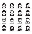 user man woman businessman icon set vector image vector image