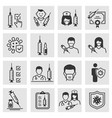 vaccine icons such as injection syringe immune vector image vector image