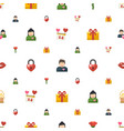 valentine icons pattern seamless included vector image vector image