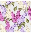 Vintage lilac seamless vector image vector image