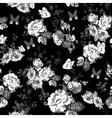 Vintage monochrome roses pattern vector image