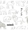 Wild animals set pattern vector image