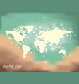 world map sky and lights in sand color to green vector image vector image