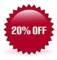 20 Off Sticker vector image vector image
