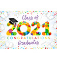 2021 yellow colouerd bubbles graduates vector image vector image