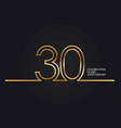 30 years anniversary vector image vector image