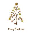 abstract christmas tree balls postcard vector image vector image