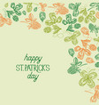Abstract floral st patricks day background