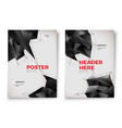 abstract poster templates white background vector image vector image