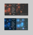 abstract technology brochure with dots and vector image vector image