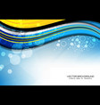 abstract wavy background with bokeh lights vector image