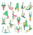Aero Yoga Decorative Icons Set vector image vector image