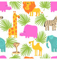 african animals seamless pattern repeating print vector image vector image