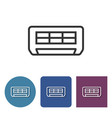 air conditioner line icon in different variants vector image vector image