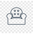 armchair concept linear icon isolated on vector image vector image