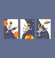 astronaut cosmonaut spaceman character in vector image