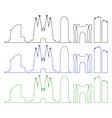 barcelona skyline vector image