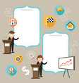 Businessman Show Success Achievement vector image vector image