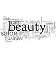 can you make money as a beauty salon owner vector image vector image