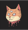 cat cute cut head vector image vector image