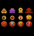 china icons for casino machines slots game vector image