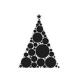 christmas tree circle style vector image vector image