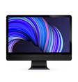 computer display color screen model vector image vector image