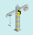 construction crane isometric vector image
