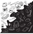 creative agency wallpaper with artistic cartoon vector image vector image