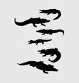 Crocodile Silhouettes vector image