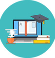 Distance education online learning concept Flat vector image vector image