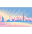 Dubai city skyline vector image vector image