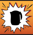 electric kettle sign comics style icon on vector image