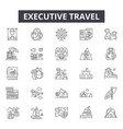 executive travel line icons for web and mobile vector image