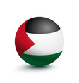 flag of palestine in the form of a ball vector image