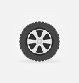 flat wheel icon - simple symbol or design vector image vector image