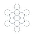 flower life sacred geometry symbol harmony vector image