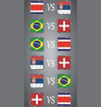 football championship flags group e vector image