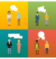four couples people who are engaging in vector image