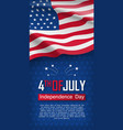 fourth of july felicitation greeting card vector image