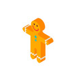 gingerbread man isometric object vector image vector image