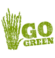 go green asparagus vector image