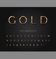 gold 3d font classic golden colored abc letters vector image vector image