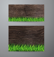 green grass on wood fence background vector image vector image